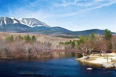 Maine Mountains Digital Art - Mt. Katahdin by Gary Smith