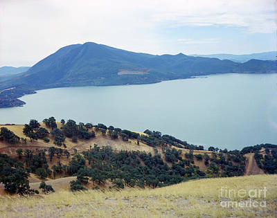 Photograph - Mt. Konocti And Beautiful Clear Lake. Clear Lake  1960 by California Views Mr Pat Hathaway Archives