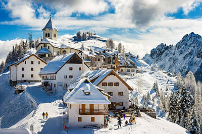 Photograph - Mt. Lussari by Alfio Finocchiaro