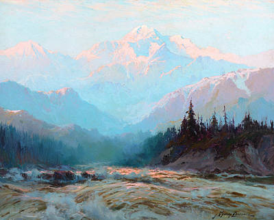 Yosemite Valley Painting - Mt. Mckinley, Alaska by Sydney Mortimer Laurence