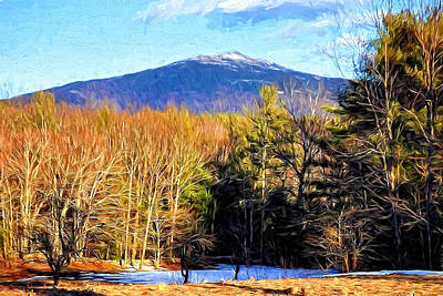 Photograph - Mt. Monadnock Paintography by Mitchell R Grosky