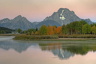 Photograph - Mt. Moran At Dawn by Gary Lengyel