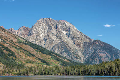 Photograph - Mt Moran At The Grand Tetons by John M Bailey