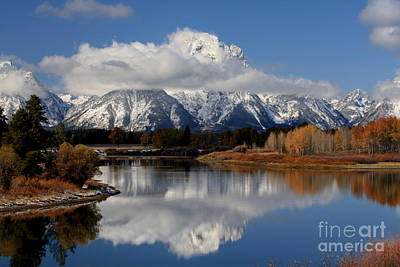 Art Print featuring the photograph Mt Moran by Edward R Wisell