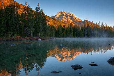 Photograph - Mt. Moran From String Lake by Steve Stuller