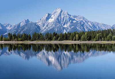 Photograph - Mt. Moran Grand Tetons by William Bitman