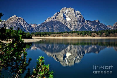 Photograph - Mt Moran In The Grand Tetons by Bruce Block