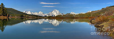 Mt. Moran Reflections At Oxbow Art Print by Adam Jewell