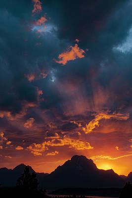 Photograph - Mt Moran Sunset, Grand Tetons National Park, Wyoming by Aidan Moran