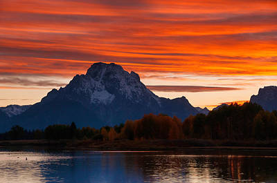 Photograph - Mt. Moran Sunset by Steve Stuller