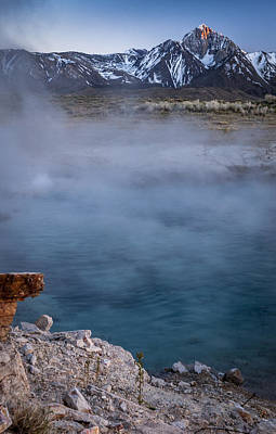 Photograph - Mt. Morrison And Blue Lagoon by Cat Connor