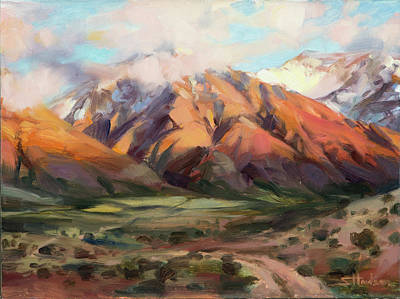 Mount Rushmore Wall Art - Painting - Mt Nebo Range by Steve Henderson