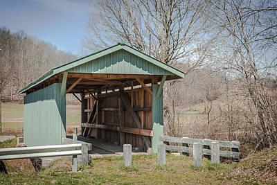 Mt Olive Rd/grandstaff Covered Bridge  Art Print by Jack R Perry