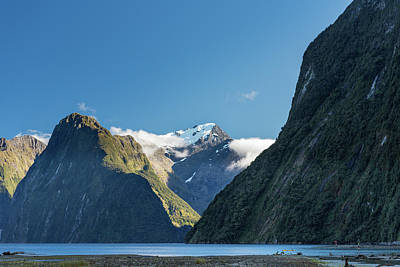 Art Print featuring the photograph Mt Pembroke Glacier by Gary Eason