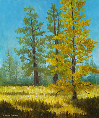 Painting - Mt. Pinos Trees by Douglas Castleman