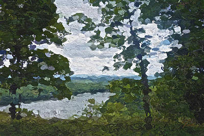 Cloudy Day Painting - Mt. Pocono by Joan Reese