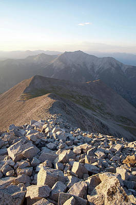 Photograph - Mt. Princeton From Mt. Antero by Aaron Spong