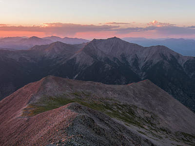 Buena Vista Photograph - Mt. Princeton Sunset 2 by Aaron Spong