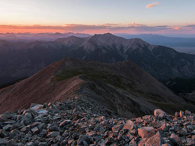 Buena Vista Photograph - Mt. Princeton Sunset by Aaron Spong