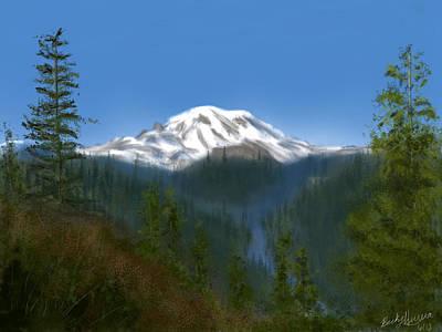 Ipad Painting - Mt Rainier by Becky Herrera