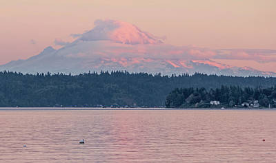 Mt. Rainier At Sunset Art Print