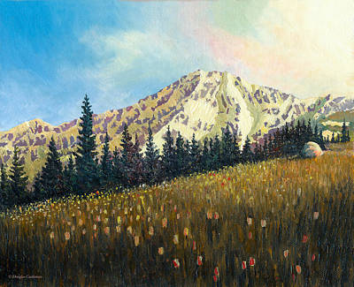 Painting - Mt. Rainier At The End Of The Day by Douglas Castleman