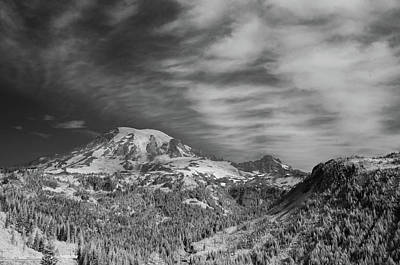 Photograph - Mt. Rainier by Bob Cournoyer