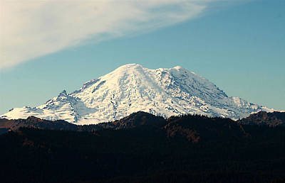 Photograph - Mt Rainier by Cherie Duran