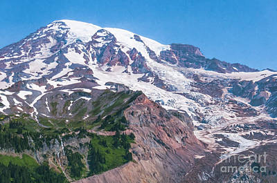 Photograph - Mt Rainier Closeup by Sharon Seaward