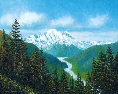 Painting - Mt. Rainier by Douglas Castleman