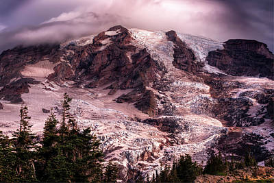 Photograph - Mt Rainier Early August Light Fine Art Photograph by Greg Sigrist