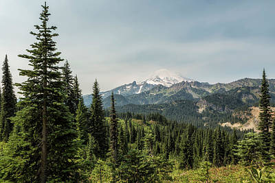 Photograph - Mt Rainier From Naches Peak Loop by Belinda Greb