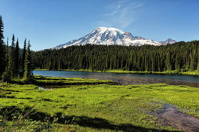 Photograph - Mt Rainier From Reflection Lake, No. 1 by Belinda Greb