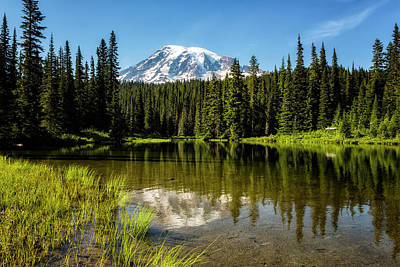 Photograph - Mt Rainier From Reflection Lake, No. 3 by Belinda Greb