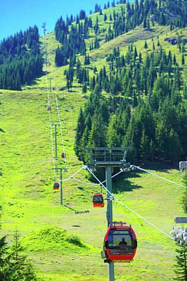 Mt. Rainier Gondola Art Print