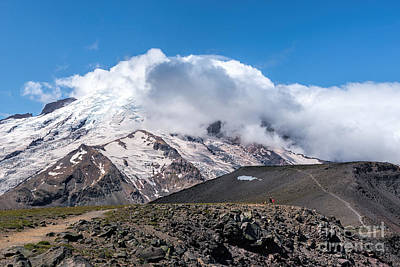 Photograph - Mt Rainier In The Clouds by Sharon Seaward