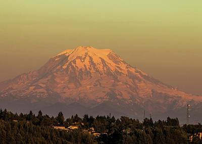 Photograph - Mt. Rainier In The Evening Light by E Faithe Lester