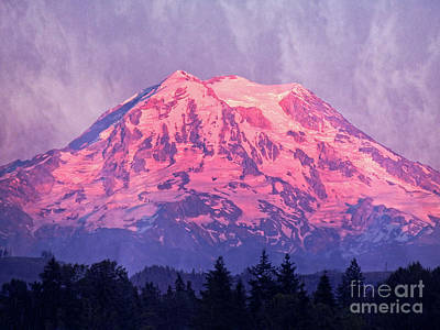 Photograph - Mt. Rainier by Jim And Emily Bush