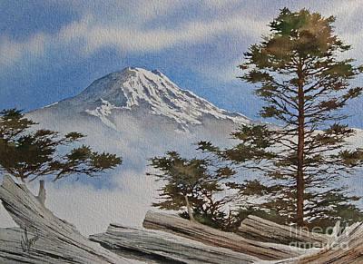 Mt. Rainier Landscape Art Print