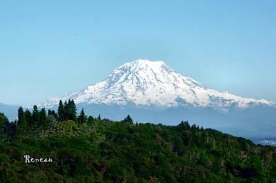 Photograph - Mt Rainier Magnificence by Sadie Reneau