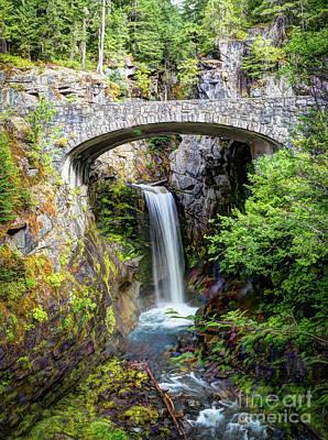 Photograph - Mt Rainier National Park, Christine Falls by Deborah Klubertanz
