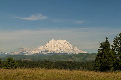 Photograph - Mt Rainier - National Park Washington by Brian Harig