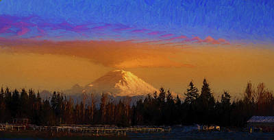 Just Desserts - Mt. Rainier painting by Mike Penney