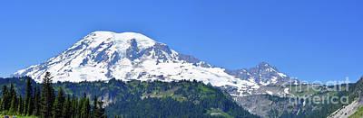 Photograph - Mt Rainier Panoramic Landscape by Scott Cameron
