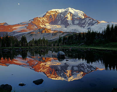 Photograph - 2m4857-h-mt. Rainier Reflect  by Ed  Cooper Photography