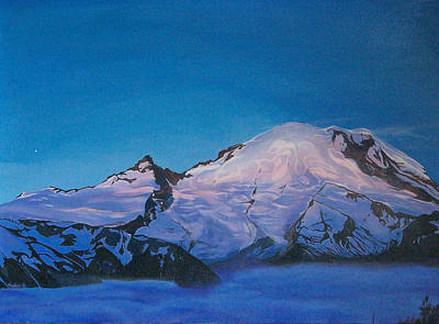 Mt Rainier Sunrise Original by Aura Petersen