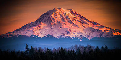 Photograph - Mt. Rainier Sunset by Chris McKenna
