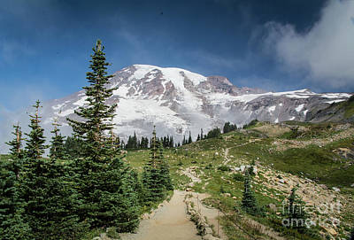 Photograph - Mt. Rainier, The Climb by Deborah Klubertanz