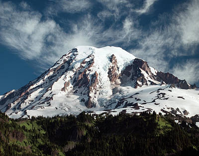 Photograph - Mt Rainier - Washington State by Greg Sigrist