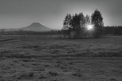 Mellow Yellow - Mt Rainier Winter Sunrise by Chad Hamilton
